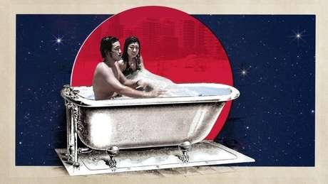 Um banho noturno, como é comum no Japão, pode ajudar a relaxar antes de dormir