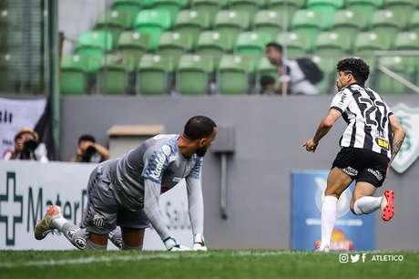 Luan fez o primeiro gol do Atlético-MG (Foto: Twitter/Atlético-MG)