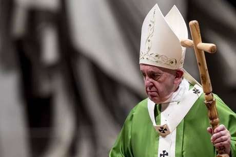 Papa Francisco durante missa no Vaticano, em 20 de outubro