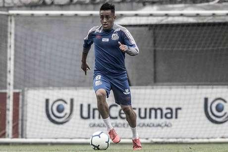 Cueva tem futuro incerto no Santos (Ivan Storti/SFC)