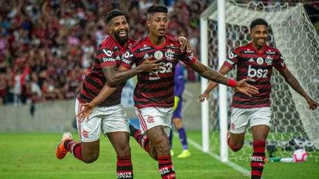 Bruno Henrique comemora gol do Flamengo (Marcelo Cortes / Flamengo)