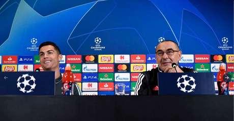 Dupla concedeu entrevista coletiva nesta segunda-feira (Foto: Divulgação/Juventus)