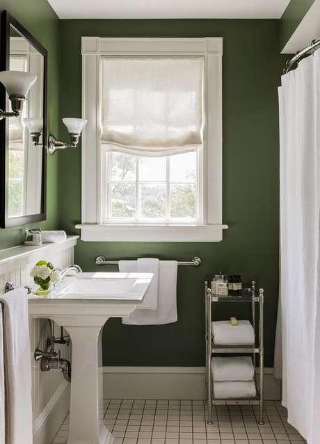 3. Não importa se é uma cortina para banheiro a ser usada no box ou na janela. Foto: Casa de Valentina