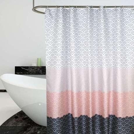 45. Esta é uma cortina para banheira que brinca com as cores. Foto: Ali Express