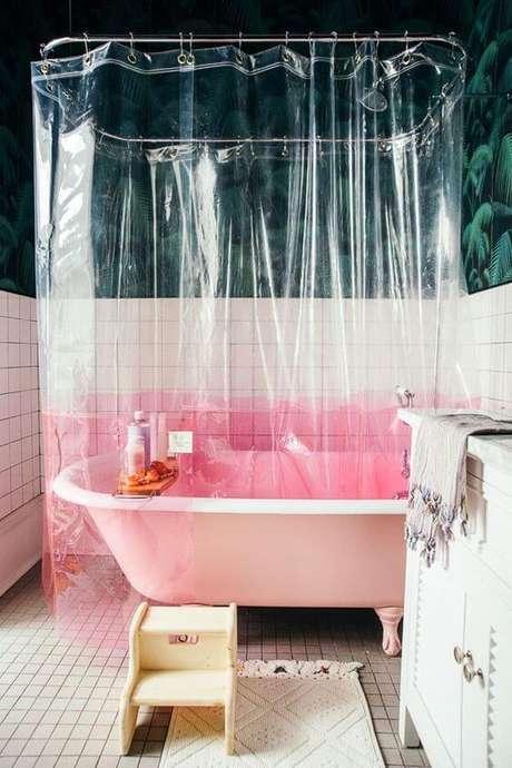 4. Existem muitos modelos de cortina para banheiro no mercado. Foto: Casa Vogue