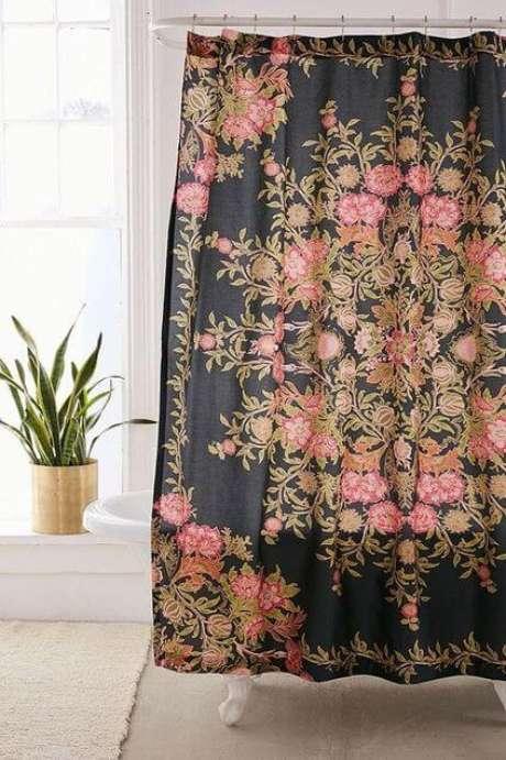 41. A cortina para banheiro pode ser muito clássica. Foto: Urban Outfitters