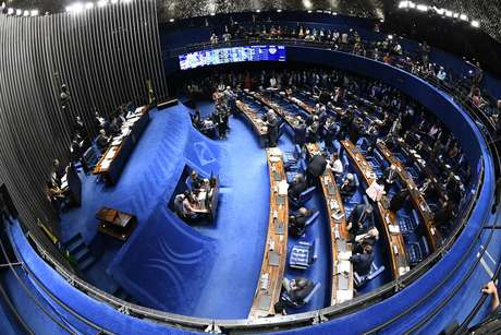 Plenário do Senado na votação em segundo turno da reforma da Previdência.