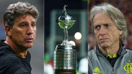 Grêmio, de Renato, e Flamengo, de Jesus, duelam em outubro (F: Lucas Uebel/Grêmio; AFP; Alexandre Vidal/CRF)