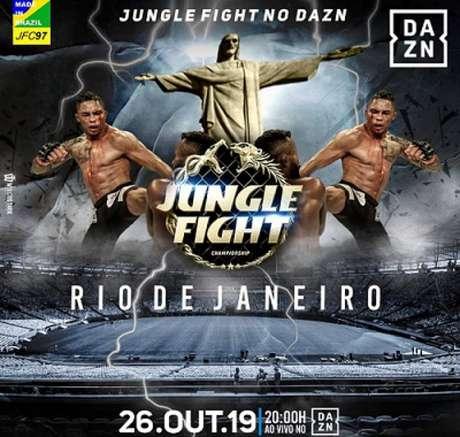 Jungle Fight No DAZN 97 será realizado no próximo sábado (26), no Rio de Janeiro (Foto: Divulgação)