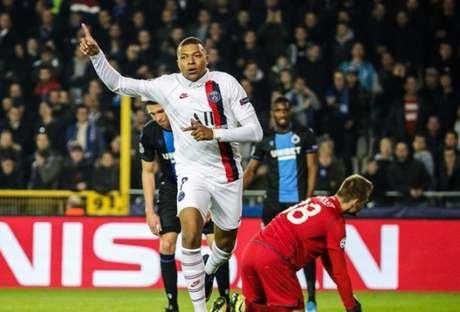 Mbappé marcou três gols na vitória do PSG nesta terça-feira (Divulgação)