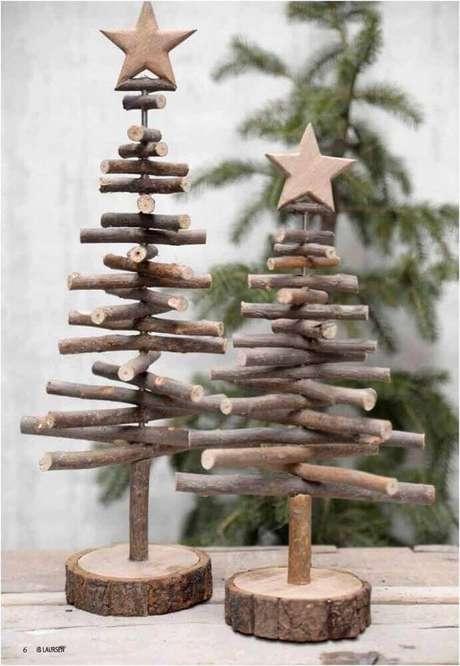 30. Alguns enfeites de natal são perfeitos para decoração rústica. Foto: Pinterest