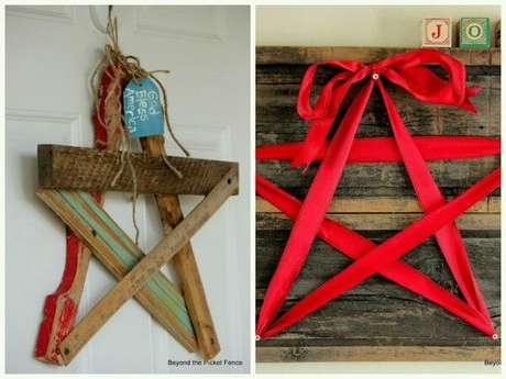 94. Estrela de madeira decora o ambiente. Fonte: Pinterest