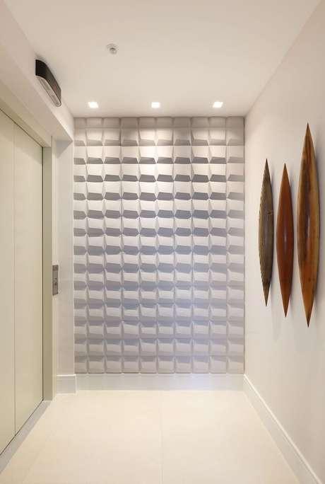 1. A parede 3D é o sonho de consumo de muitas pessoas. Projeto de Andrea Petini