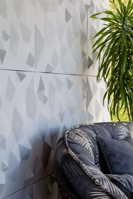 3. O adesivo para parede 3D é uma alternativa barata. Projeto de Metrik Design