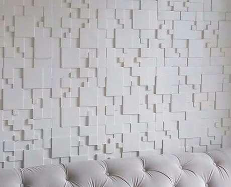 2. A parede 3D de gesso é algo muito comum. Foto: Mercado Livre