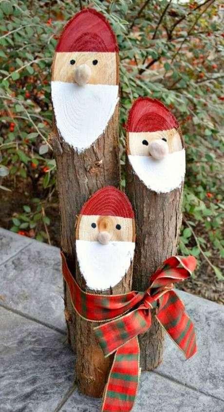 16. Reaproveite galhos de madeira e crie lindos enfeites de Natal. Fonte: Pinterest