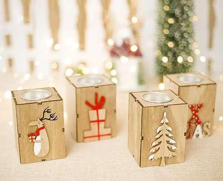 104. Velinhas decorativas utilizadas como enfeites de Natal. Fonte: Pinterest