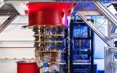 Computador quântico do Google, que fica em laboratório em Santa Barbara (EUA)