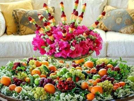 5. Mesa de natal decorada com frutas – Por: Pinterest