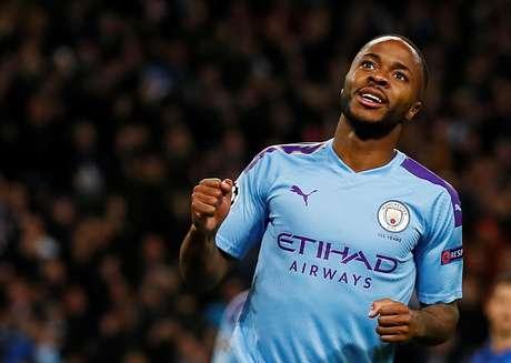 Raheem Sterling durante partida do Manchester City contra a Atalanta pela Liga dos Campeões 22/10/2019 Action Images via Reuters/Jason Cairnduff