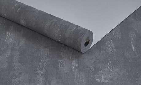 9. Rolo de papel parede cimento queimado. Fonte: Decoriu Papéis de Parede