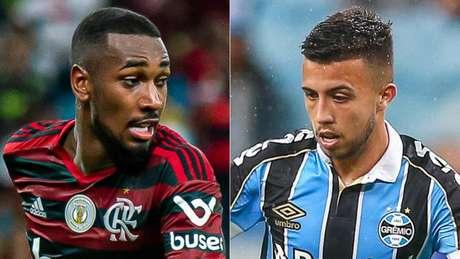 Gerson e Matheus Henrique são os considerados maestros de Flamengo e Grêmio (Foto: Divulgação)