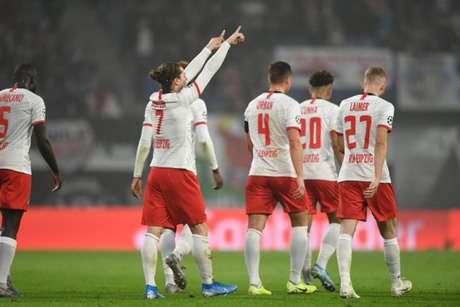 Sabitzer marcou o gol da vitória do Red Bull Leipzig (Foto: Reprodução/Twitter)