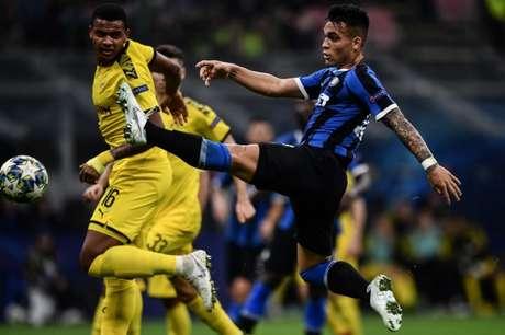 Lautaro Martínez marcou um dos gols da Inter nesta quarta (Foto: AFP)