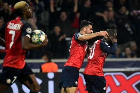 Lille conquistou o seu primeiro ponto na Liga dos Campeões - (AFP)