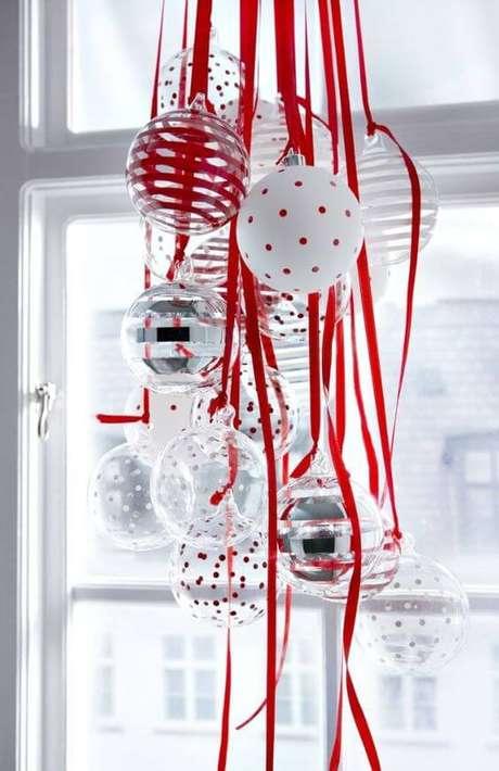 15. As bolas de natal transparentes podem ser personalizadas como você quiser