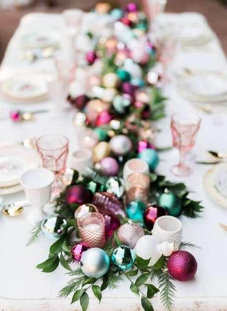 2. Use cores fora do tradicional para a sua decoração de Natal – Foto:Danielle Noce