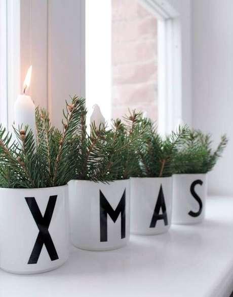 55. Ideia para decoração natalina simples e minimalista – Foto: ThaiTicketMajor