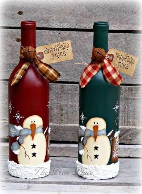 77. Modelos de garrafas decoradas natalinas divertidas – Foto: The Prim Place