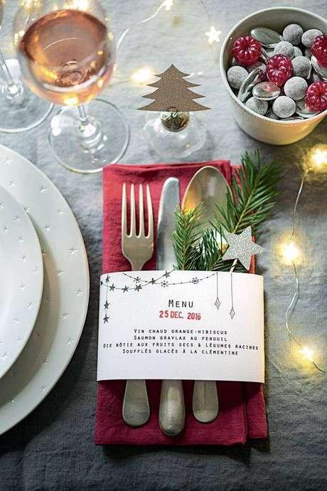 40. Detalhes da mesa de natal – Por: Pinterest