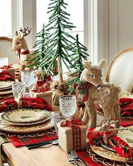 88. Detalhes lindos para a mesa de natal – Por: Pinterest