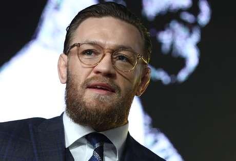 Conor McGregor durante entrevista coletiva em Moscou 24/10/2019 REUTERS/Evgenia Novozhenina