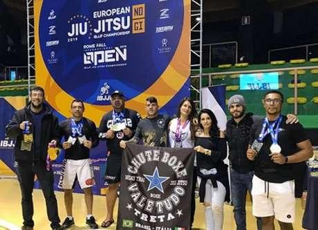 Chute Boxe Itália esteve presente em peso na disputa do Europeu No-Gi da IBJJF (Foto: Divulgação)