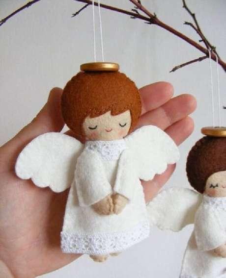 64. Como fazer enfeites de natal com feltro. Fonte: Pinterest