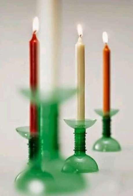30. Esses porta-velas são bem simples de fazer. Foto: Soy Curioso