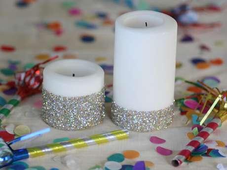 57. Como fazer enfeites de natal com glitter. Foto: Hobilendik