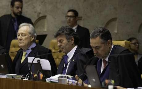 Ministros durante sessão do STF.