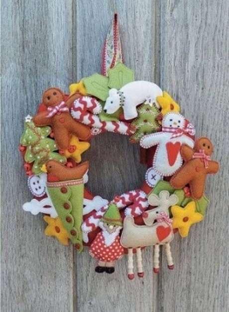 40. Como fazer enfeites de natal em feltro. Foto: Pinterest