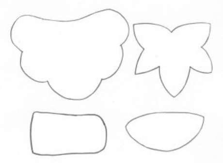10. Desenhe esses moldes nas suas peças de EVA. Foto: Painel Criativo