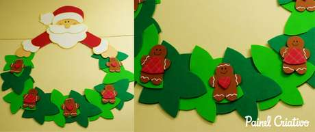13. Seguindo o nosso passo a passo de como fazer decoração de natal em EVA, você vai ter um enfeite como esse. Foto: Painel Criativo