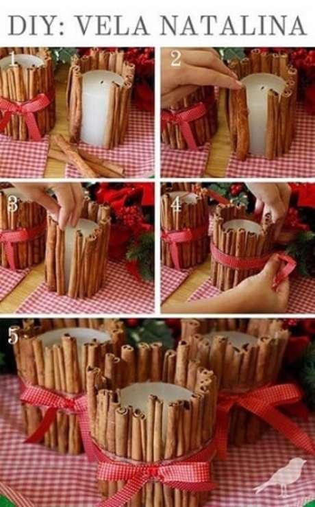 22. Passo a passo de como fazer enfeites de natal com velas. Foto: We Share Ideas