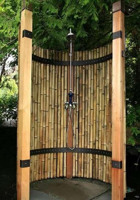 11. Cerca de bambu para a área de banho. Fonte: Pinterest