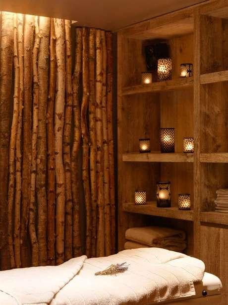 13. A cerca de bambu é muito utilizada em um ambiente de Spa. Fonte: Pinterest
