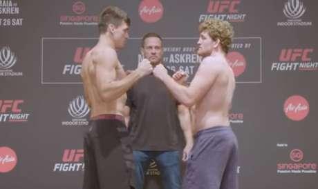Demian e Askren fazem a luta principal do UFC Singapura na manhã deste sábado (Foto: Reprodução/YouTube)