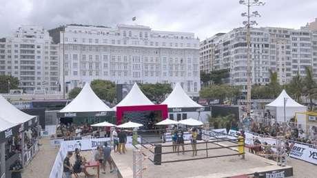 Copacabana, a praia mais famosa do mundo, será mais uma vez casa do Boxe de Praia (Foto divulgação)