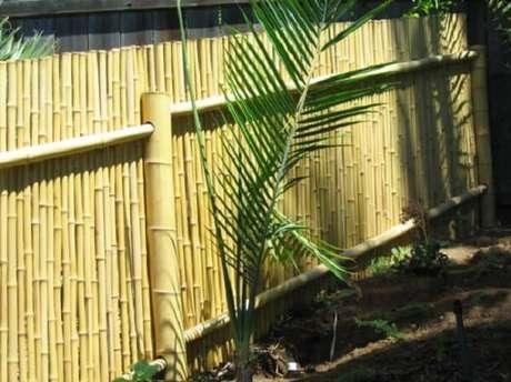 37. Modelo de cerca de bambu fixada no jardim. Fonte: Pinterest